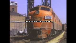 Chicago - 1970 - Trains - Diesel - Railroads - Stock Footage - Best Shot Footage