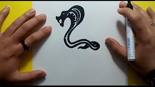 how to draw a cobra video
