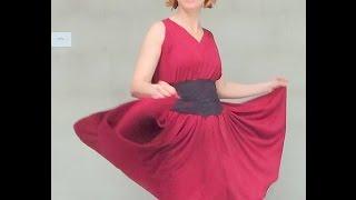 getlinkyoutube.com-DIY - Como fazer vestido Godê sem Costura
