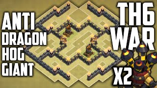 getlinkyoutube.com-Clash of Clans BEST TH6 WAR BASE! 2 AIR DEFENSES! (Town Hall 6 War/Trophy Base) Anti Everything #3