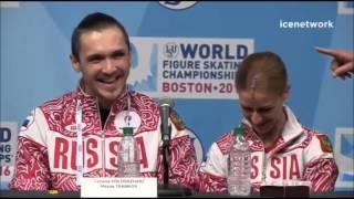 getlinkyoutube.com-Tatiana Volosozhar & Maxim Trankov - Worlds 2016 Pairs SP Press Conference
