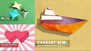 getlinkyoutube.com-Origami for Kids - How to Make 5+ Simple Interactive Origami [Can you name them all?]