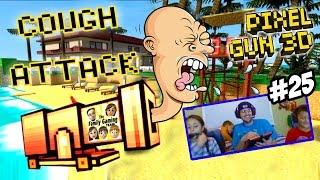 getlinkyoutube.com-Dad & Kids play Pixel Gun 3D: COUGH ATTACK!  Alajidamahnabeard!  Fappas!  WHAT? (Face Cam Part 25)