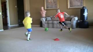 getlinkyoutube.com-6-7 football/soccer kid with skills of Messi/Ronaldo/Neymar trying to be next Iniesta pt. 2