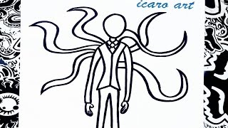 getlinkyoutube.com-Como dibujar a slenderman | how to draw slenderman