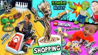 getlinkyoutube.com-TOY HUNTING! Amiibo Bowling Challenge, Growing a Groot and Killing Zombies  (FGTEEV Shopping Vlog)