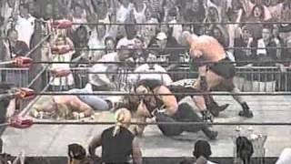 getlinkyoutube.com-WCW Nitro: June 22nd 1998: Goldberg destroys nWo Hollywood