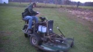 getlinkyoutube.com-HOMEMADE LAWN MOWER WITH CAR ENGINE PART 2