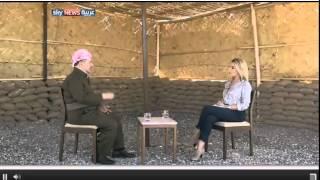 getlinkyoutube.com-بصراحة زينة يازجي مع كاك مسعود برزاني في جبهات القتال 2014 10 12