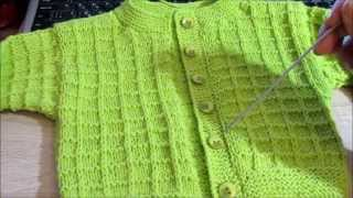 getlinkyoutube.com-Простая кофточка для малыша спицами. Baby jacket knitting.