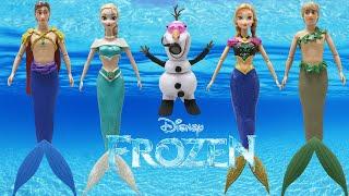 "getlinkyoutube.com-Play Doh Dresses Disney ""FROZEN"" Elsa Anna Hans Kristoff OLAF MERMAIDS"