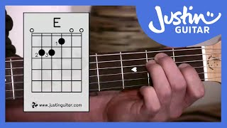getlinkyoutube.com-E Chord - Easy Third Guitar Chord - Beginner Guitar Lessons Stage 1 - JustinGuitar [BC-113]