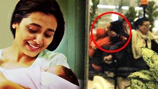 getlinkyoutube.com-Rani Mukerji CREATES Scene At Airport While Protecting Baby Adira