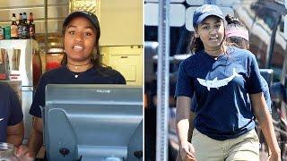 getlinkyoutube.com-Sasha Obama works summer job on Martha's Vineyard