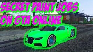GTA 5 Online: SECRET Car Colors - GLOWING GREEN, Shiny Blue, Toxic Yellow! BEST Paint Jobs (GTA V)