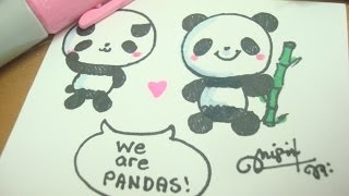 getlinkyoutube.com-How to draw a cute panda :)