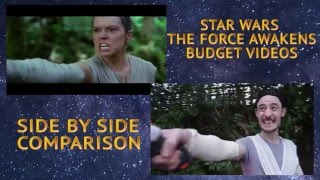 Star Wars: The Force Awakens Trailer (Side By Side Comparison) - Budget Videos