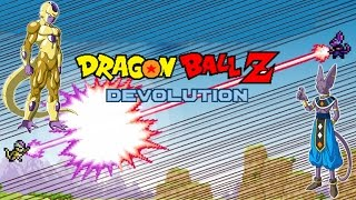 getlinkyoutube.com-Dragon Ball Z Devolution: God of Destruction Lord Beerus vs. Golden Frieza!