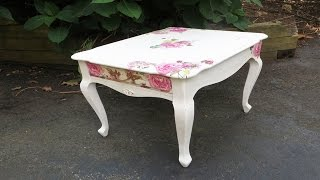 getlinkyoutube.com-How to Decoupage Furniture with Napkins a Table