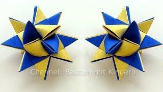 getlinkyoutube.com-Sterne basteln: Fröbelstern - Basteln Weihnachten - Fröbelsterne Anleitung - Origami