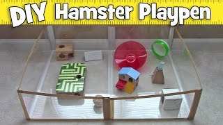 getlinkyoutube.com-DIY Folding Carpet Saver Hamster Playpen by Hammy Time