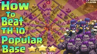 getlinkyoutube.com-How to attack square base TH 10 3 Stars   Clash of clans Vol 4