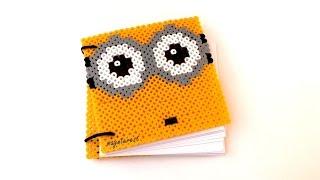 getlinkyoutube.com-DIY: Cómo hacer una LIBRETA MINION de hama beads - Vuelta al cole
