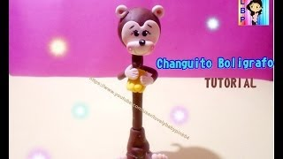getlinkyoutube.com-COMO HACER Plumas de Animales PORCELANA FRIA - Monkey Cold porcelain Tutorial
