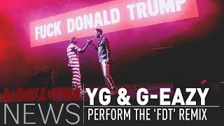 """YG & G-Eazy Debuts """"FDT"""" Remix Live In LA"""