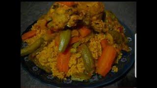 """getlinkyoutube.com-الحلويات المغربية مع ثورية :الأرز بالخضر"""" مثل الكسكس"""""""