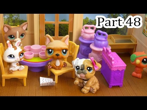 LPS Meeting At Coffee Shop Mommies Part 48 Littlest Pet Shop Series Video Movie LPS Mom Babies