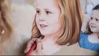 getlinkyoutube.com-Pastel portrait, Portrait painting process, Making a Pastel portrait