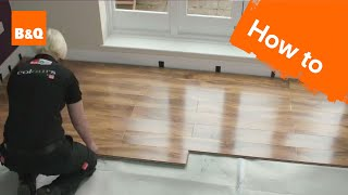 getlinkyoutube.com-How to lay flooring part 3: laying locking laminate