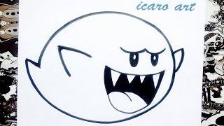 getlinkyoutube.com-Como dibujar a boo de Mario bros | how to draw boo from mario