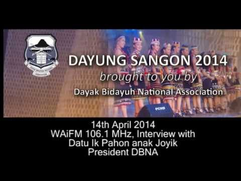 WaiFM Radio Interview with Datu Ik Pahon, President of DBNA, on Dayung Sangon 2014