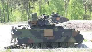 getlinkyoutube.com-GRAFENWOEHR GERMANY! M2 and M3 Bradley Infantry Fighting Vehicles - Live Fire Exercise!