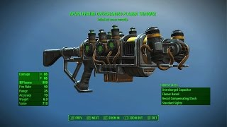Fallout 4 - NEVER ENDING PLASMA THROWER (Rare Legendary Plasma Rifle)