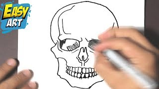 getlinkyoutube.com-how to draw a skull halloween - how to draw a skull - como dibujar una calavera