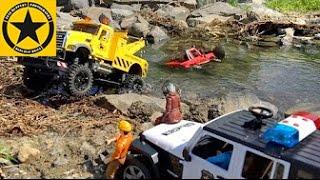 getlinkyoutube.com-BRUDER Toy Trucks MACK Monster TOW TRUCK RC River Rescue (LONG PLAY)!
