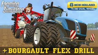 getlinkyoutube.com-Farming Simulator 2015 NEW HOLLAND T9 560 DUAL WHEEL