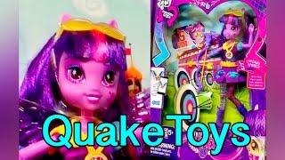 getlinkyoutube.com-My Little Pony Equestria Girls Friendship Games Archery Twilight Sparkle Doll Zapcode QuakeToys