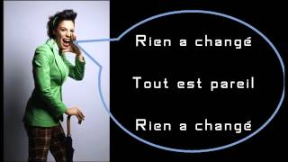 Zaho - Tout Est Pareil (lyrics)
