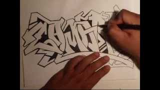 getlinkyoutube.com-Drawing Graffiti- (Requested)  -(ZAMARY)   by WIZARD