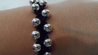 getlinkyoutube.com-Tutorial: bracciale facilissimo all'uncinetto con perle