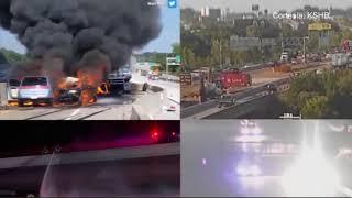 Impresionante vídeo de una colisión en la I-435.