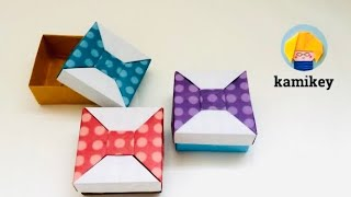 getlinkyoutube.com-【折り紙】 リボンの箱2 Origami Bow Box 2