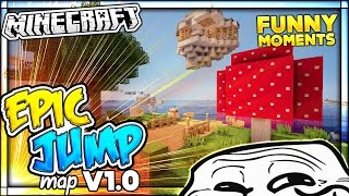 THE BEST PARKOUR MAP EVER CREATED & TROLLING | Minecraft Epic Jump Map v1.0 Funny Moments