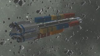 getlinkyoutube.com-Space Engineers - commercial & transport cargo ship