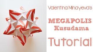 getlinkyoutube.com-Origami Megapolis Kusudama Tutorial