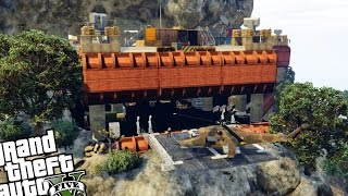 getlinkyoutube.com-Merryweather Mountain Fortress - GTA 5 PC MOD (Mountain Fortress Military Base)